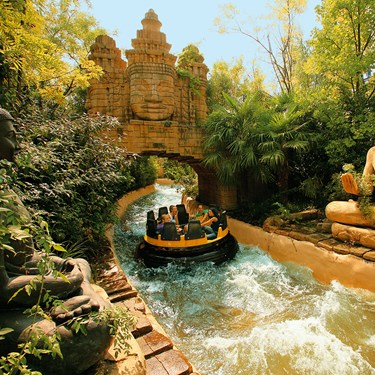 Gardaland Park - Jungle Rapids - Percorso nella jungla